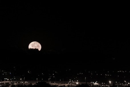 A birthday Moon for Shelley - taken April 2013.