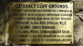 Cataract Gorge Plaque