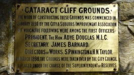 Cataract Gorge Plaque