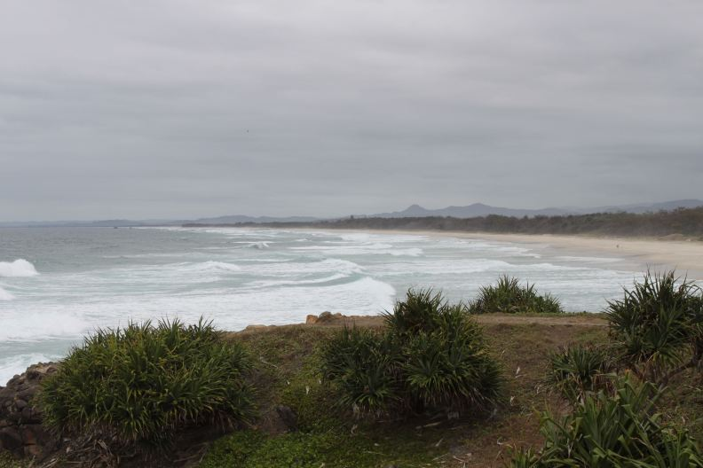 View south from the Hastings Point headland.