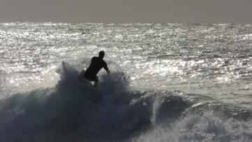 Riding the foam