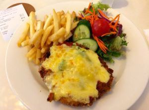 Chicken Parmie at The Entrence