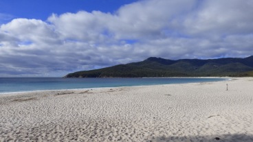 On the Beach at Wineglass Bay