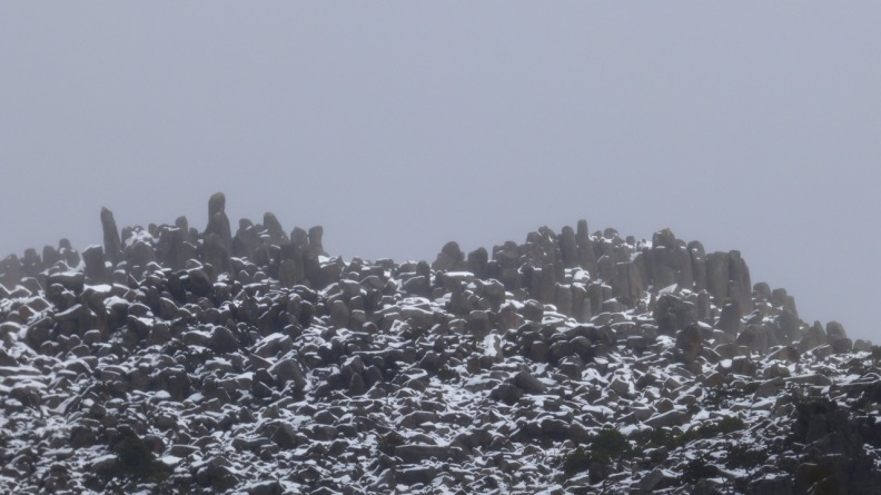 Rocks at the top of Mount Wellington