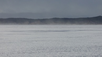 Mist rolling off the ocean along Ocean Beach. Were had stood there on Ocean Beach the day before and the waves were brutal.