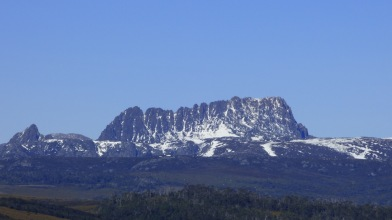 Close up from the lookout approaching Cradle Mountain.