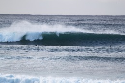 See the surfers waiting