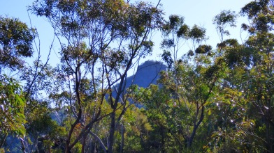 Pigeon House Mountain viewed from the first cliff line
