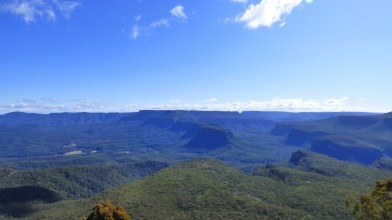 North west view from the top of Pigeon House Mountain