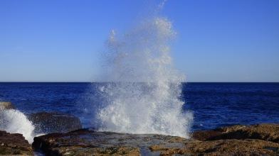 Waves on North Bondi Rocks