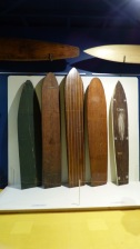 Old boards on display