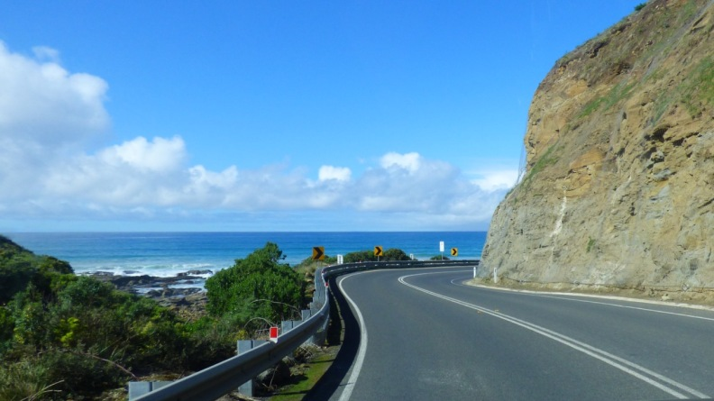The ocean view for most part on the eastern side of the road