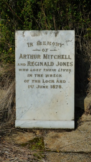 In the cemetery at Loch Ard Gorge