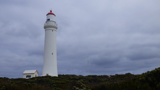 Cape Nelson Lighthouse, completed in 1884, at a time when there were fears of a Russian invasion of the Pacific.