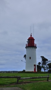 Originally erected on Battery Point in 1859, the lighthouse was relocated, stone by stone, to its current position on North Bluff (now Whaler's Bluff) in 1889 to make way for gun emplacements on Battery Point.