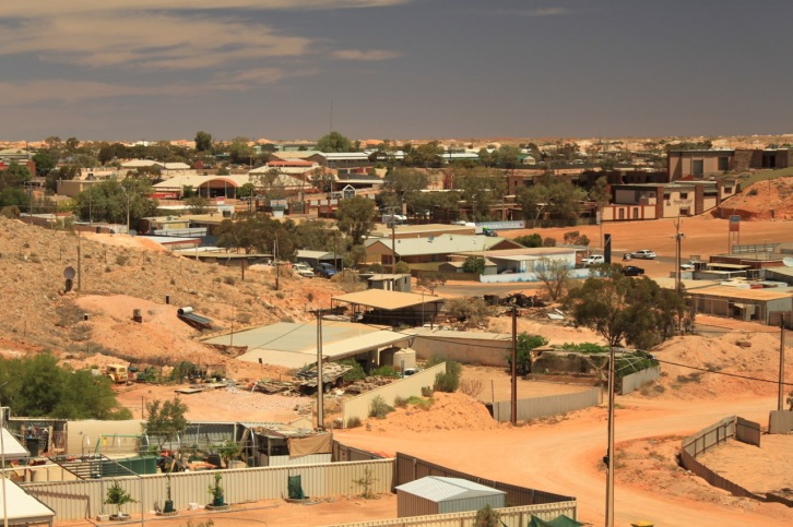 Coober Pedy. Can you see the home built into the side of the hill?
