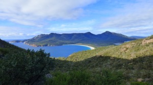 Wineglass Bay as viewed from the Wineglass Bay Lookout