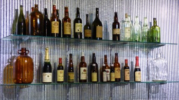 Bottles on display in the museum