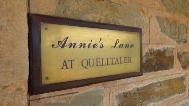 The plaque at the Cellar Door