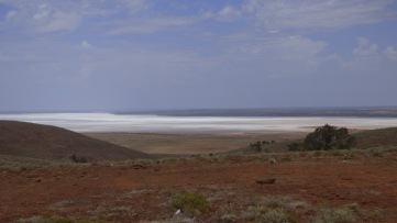 Island Lagoon, a salt lake.