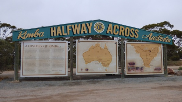The Halfway Across sign