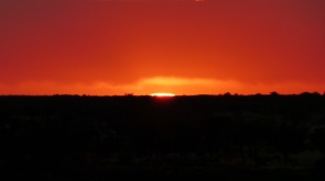 Red Sunrise Zoomed in