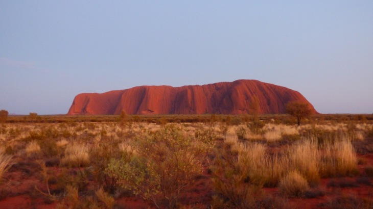 Sunrise Over Uluru - taken Saturday October 17 at 5:51 am, 15 minutes prior to sunrise.