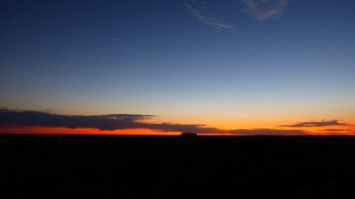 Venus and Jupiter over Uluru