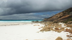 On the beach at Hellfire Bay
