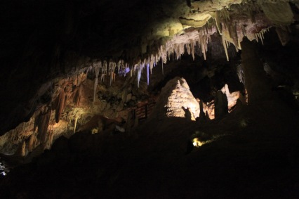 The cave was full of huge formations