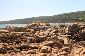 These rocks are large, there I am, right in the middle