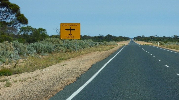 Emergency airstrips abound across many sections of the highway