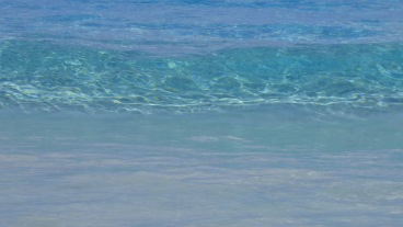 The water is cool and crystal clear