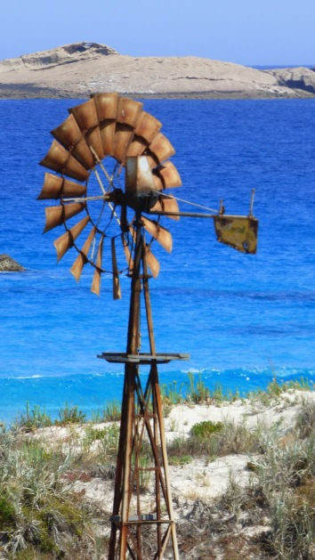 Old windmill near the beach