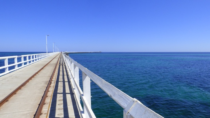The view of the jetty from the