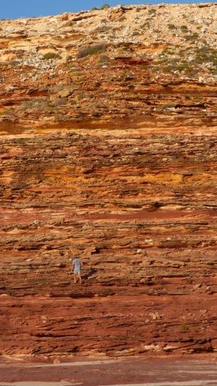 Dean climbing the cliff face at Eagle Gorge