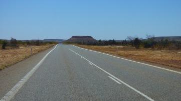 Mesa rising from the plain