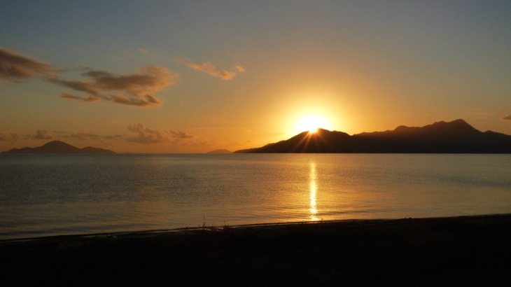 Sunrise over Hinchenbrook Island, Cardwell