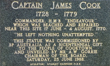 The statue plaque
