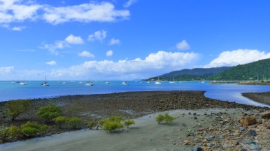 The beach front at Airlie Beach, overlooking Pioneer Bay