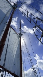 Sails of our mini tall ship
