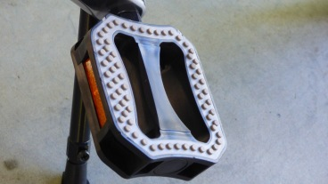 Soft rubbery pedals