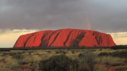 Uluru Sunset and Rainbow - Northern Territory