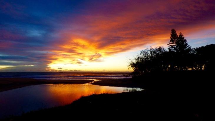 Sunrise, Dicky Beach June 6, 2016