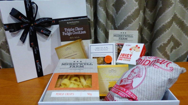 A lovely hamper full of local goodies.