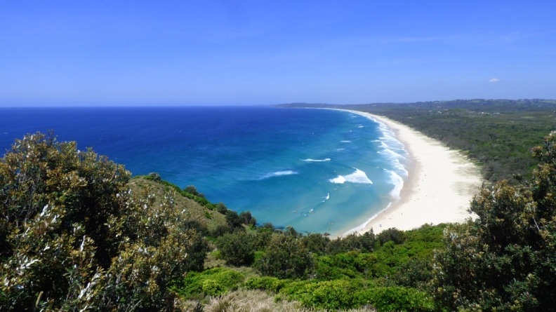 The beach south of Cape Byron