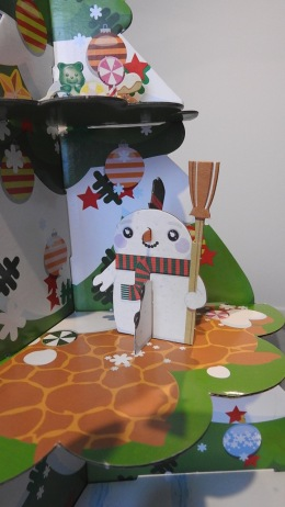 And a snow man - so out of sorts for the scorching temperatures we're experiencing.