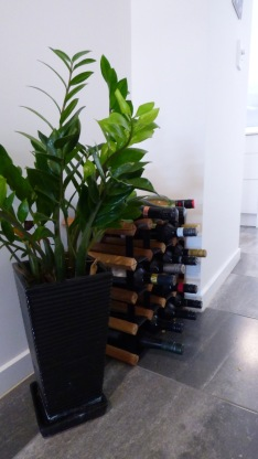 Plants and wine greet our visitors.